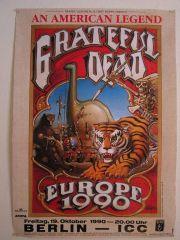 Grateful Dead Berlin Rick Griffin Poster 10/19/90