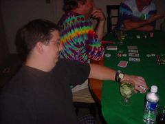 4/24 early am after the show, Scott's last poker game