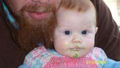 Aura loves the peas and avacado